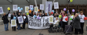 North Kinship Carers demand Justice at Kinship tea party event in Scottish Parliament, October 2010