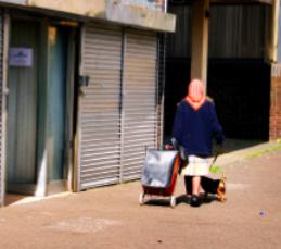 Granny in street pic